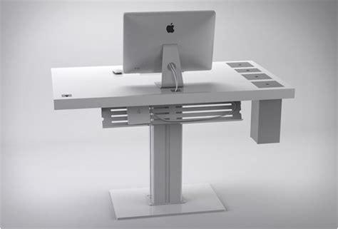 meuble design original milk desk par designer sorene rose