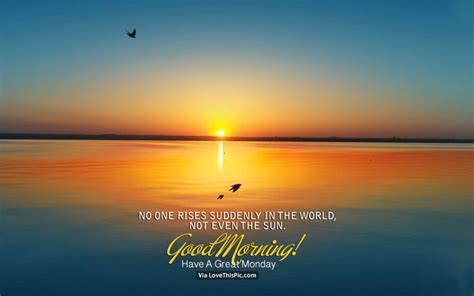 rises suddenly   world    sun good