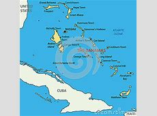 Commonwealth Of The Bahamas Vector Map Royalty Free