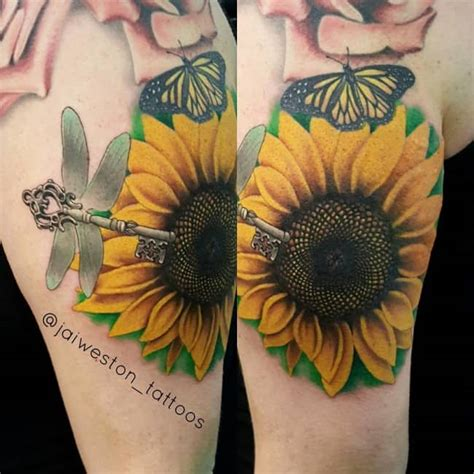 vibrant sunflower tattoos  meanings january