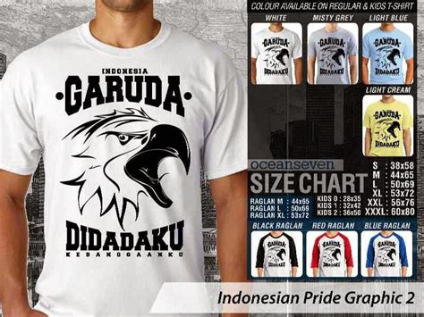 Indonesia Unite Graphic 5 kaos garuda di dadaku troli seven distro