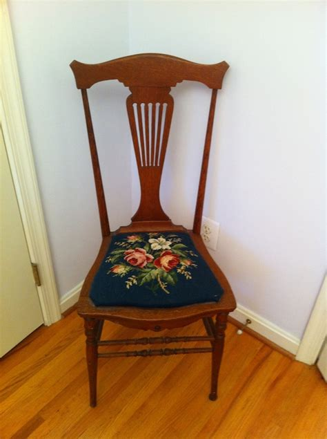 Lyre Back Chairs Antique by Vintage Lyre Back Chair With Needlepoint Cushion For Sale