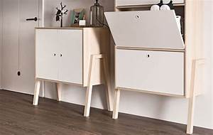 Meuble Rangement Scandinave : meuble de rangement scandinave blanc et bois d 39 acacia 2 portes spot ~ Teatrodelosmanantiales.com Idées de Décoration