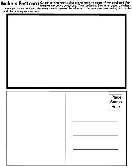 postcard coloring page crayolacom