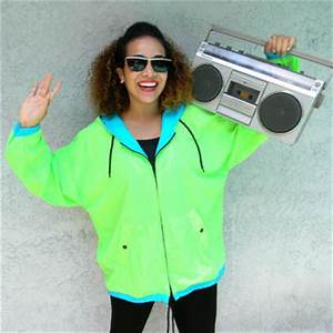 Vintage 80s 90s NEON Green Windbreaker from Dayglodiva