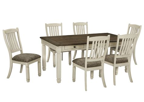 white dining table chairs wine country furniture bolanburg antique white rectangular