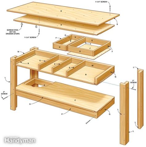 simple workbench plans   woodworking