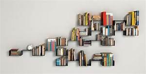 20 creative bookshelves modern and modular for Interior design bookshelf arrangement