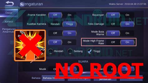 Cara High Frame Rate Mobile Legends No Root