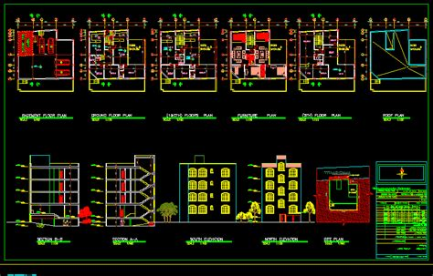 residential building dwg block  autocad designs cad