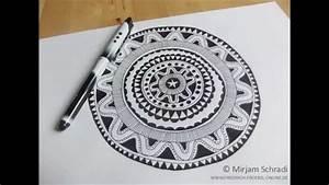 Schöne Muster Zum Selber Malen : anleitung mandala malen in schwarz wei youtube ~ Orissabook.com Haus und Dekorationen