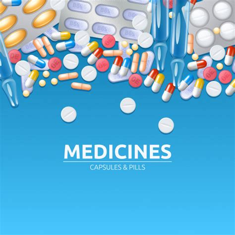 medicines background  colored pills tablets