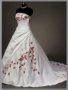 strapless red and white wedding dress sang maestro With white strapless wedding dress