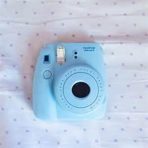 Baby Blue Polaroid Camera