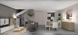 decoration salon 30m2 exemples d39amenagements With amenagement salon salle à manger 30m2