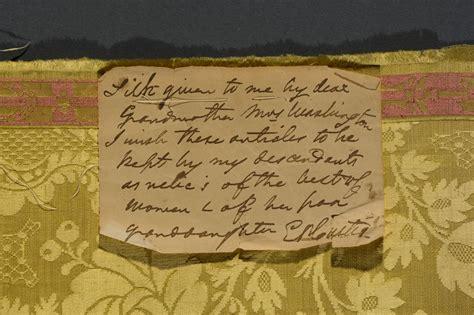 yellow damask fragment george washingtons mount vernon