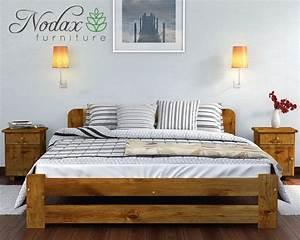 King Size Bed : solid pine 6ft super king size bed frame slats brand new wooden furniture ebay ~ Buech-reservation.com Haus und Dekorationen