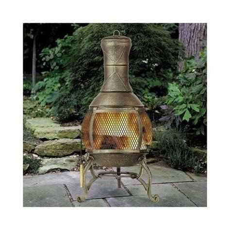 Fireplace Chiminea - chiminea fireplace outdoor patio pit wood burning
