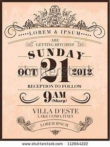 wedding invitation templates invitation templates and With vintage save the date templates free