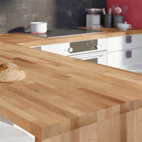 plan de travail cuisine bambou plan de travail bois hêtre brut mat l 250 x p 65 cm ep 38