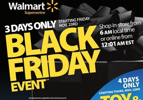 walmart black friday  canada deals flyer reveals