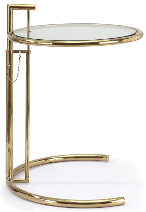 eileen gray side table  gold finish side tables