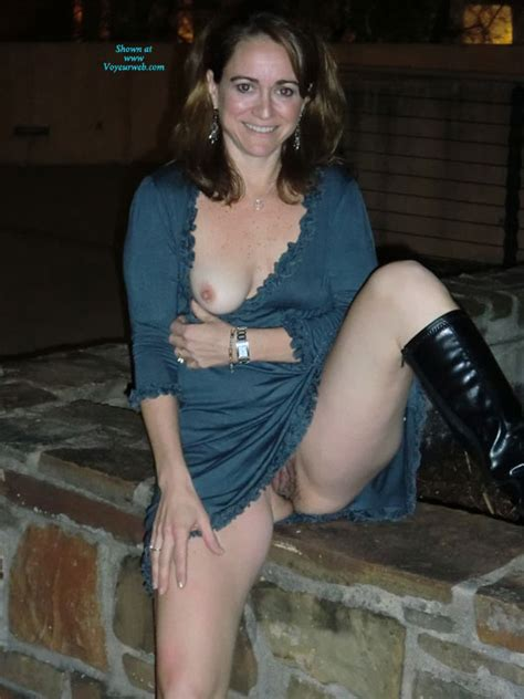 Topless Wife Playing Outside Nude In Public Photos At VoyeurWeb