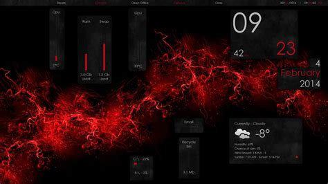 attempt  black  red theme rainmeter
