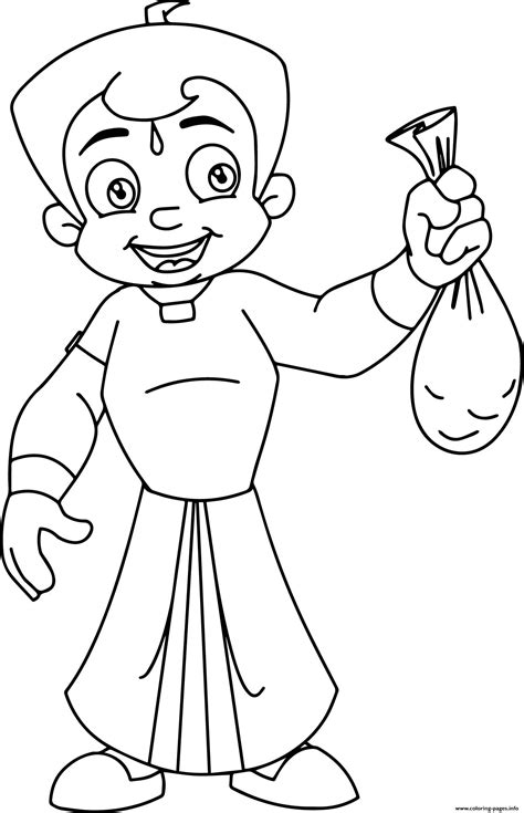 chhota bheem gold coloring pages printable
