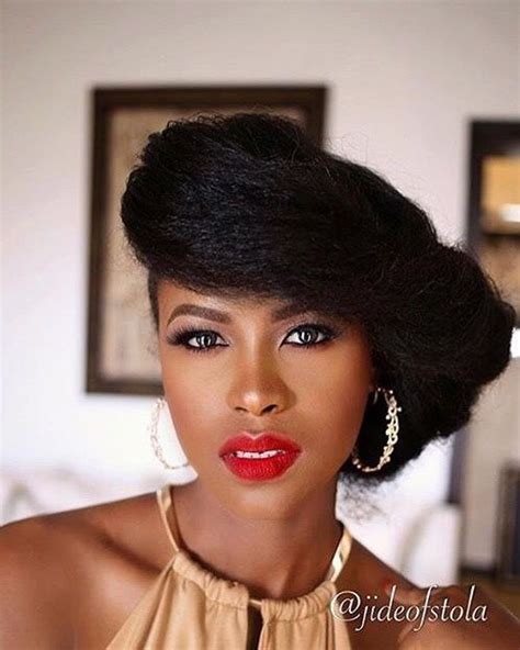 stretched hair hairstyles for afro textured hair