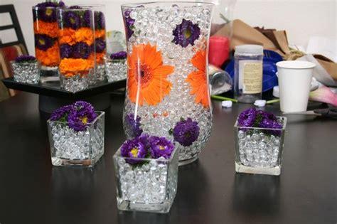purple and orange wedding centerpieces purple and orange wedding centerpieces diy one day in