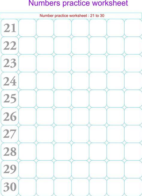 numbers practice worksheets 21 30