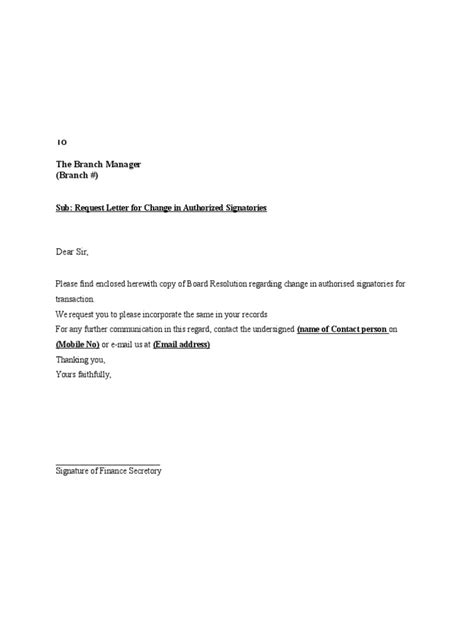 modification si e social association request letter for change in authorized signatories doc