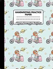 handwriting practice paper notebook primary composition