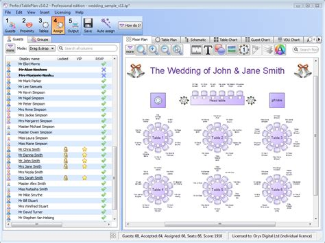 perfect table plan software  wedding professionals