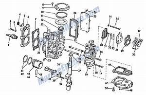 Johnson Powerhead Group Parts For 1967 3hp Jw