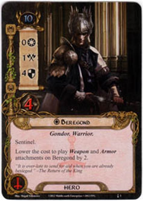 lotr lcg deck builder beregond heirs of numenor lord of the rings lcg lord