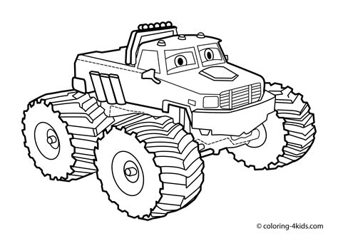 monster trucks coloring pages monster truck coloring page for kids monster truck