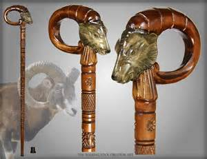 Wood Carved Walking Sticks and Canes