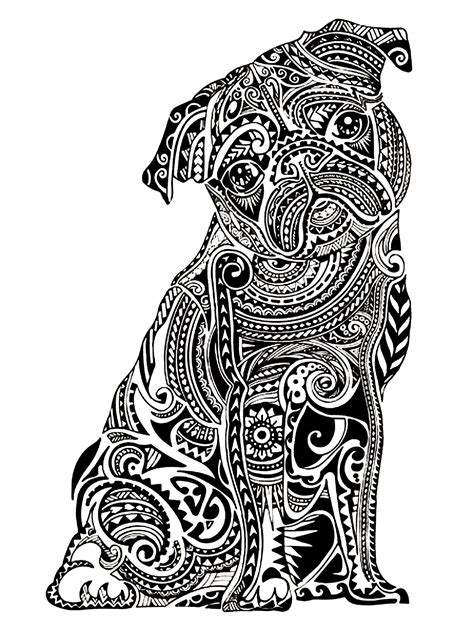 difficult  buldog animals coloring pages  adults justcolor