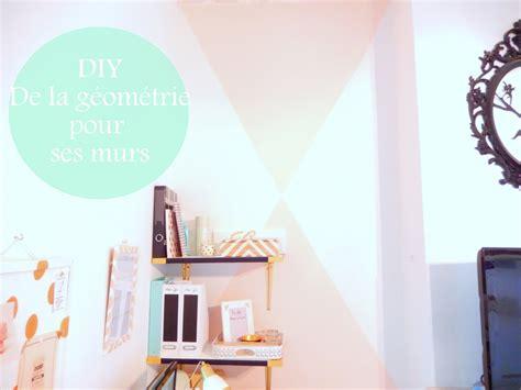 toile pour chambre diy peindre des triangles sur un mur mon carnet déco