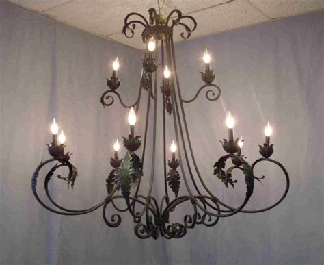 chandeliers large wrought iron chandelier