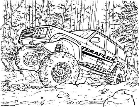 gallery teraflex jeep coloring pages teraflex