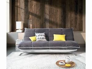 banquette clic clac en tissu couetta matelas dunlopillo With tapis shaggy avec canapé lit ou clic clac