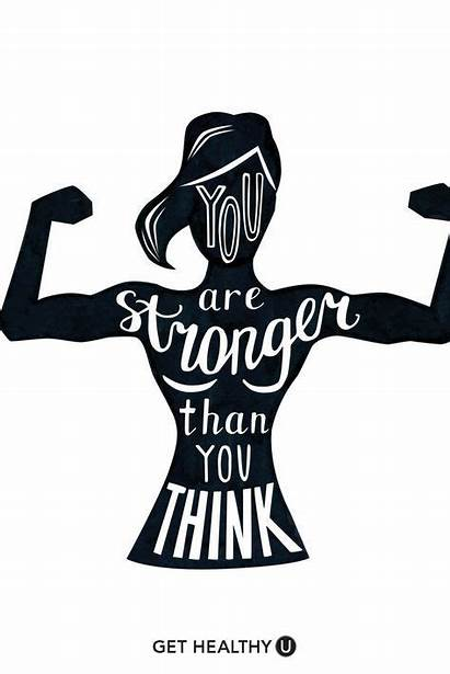 Quotes Power Fitness Stronger Than Weight Think