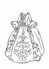 Coloring Gown Popular sketch template