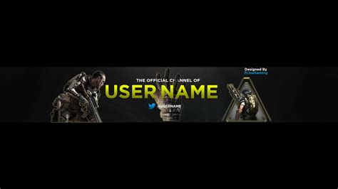 Banner Template Call Of Duty Infinite Warfare by Youtube Call Of Duty Advanced Warfare Banner Photoshop