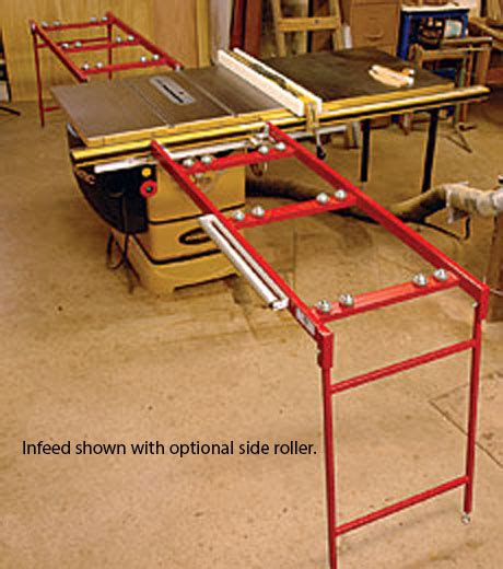 portable table saw outfeed table ezee feed infeed and outfeed tables for the table saw