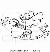 Burglar Cartoon Hasty Clipart Stealing Running Stolen Male Cat Illustration Robber Money Royalty Sack Goods Leishman Outlaw Vector Clip Toonaday sketch template