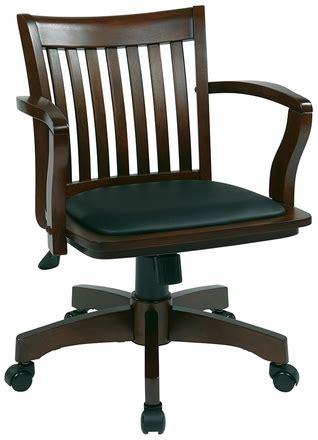 deluxe wood bankers desk chair office 108fw